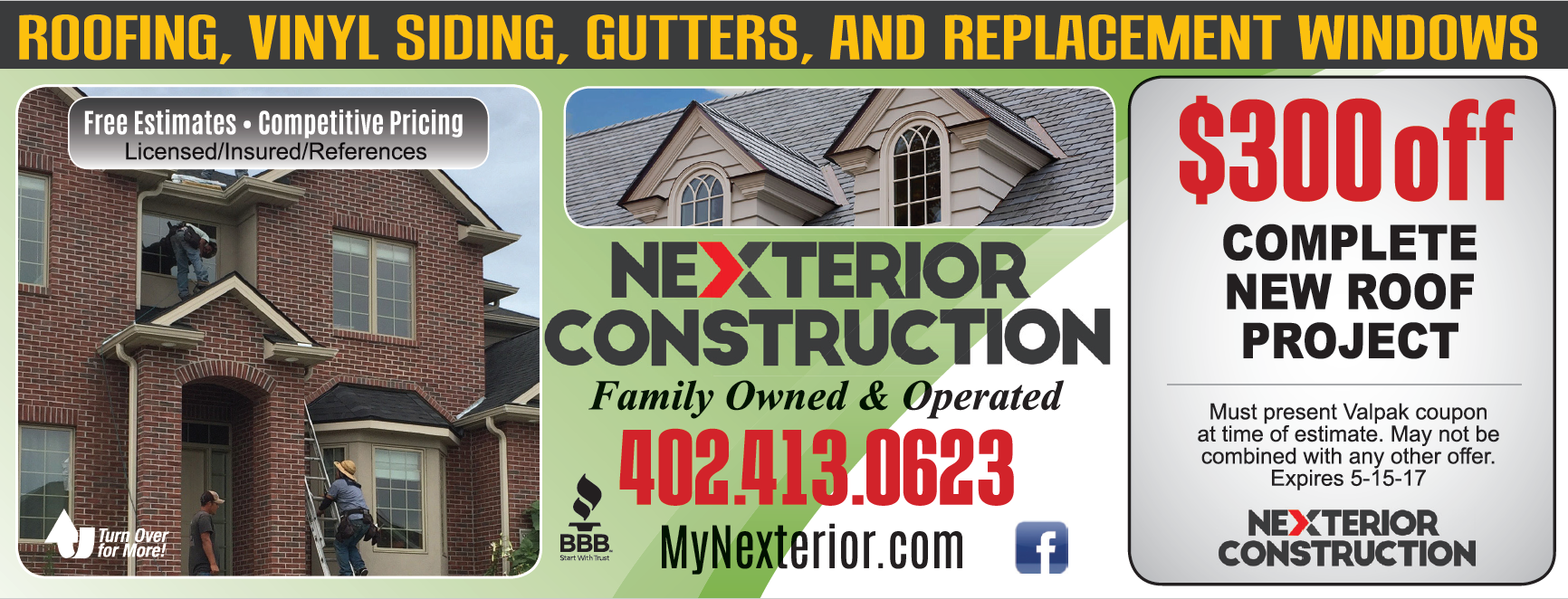 Nexterior Construction Valpak Back